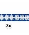 Sneeuwvlokken slingers winterdecoratie drie stuks