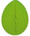 Brandvertragende groene paasei van papier 10 cm