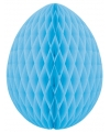 Brandvertragende lichtblauwe paasei van papier 20 cm