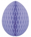 Brandvertragende lila paasei van papier 10 cm