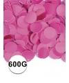 Feest confetti 600 gram fuchsia
