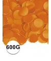 Feest confetti 600 gram oranje
