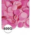 Feest confetti 600 gram roze