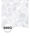 Feest confetti 600 gram wit