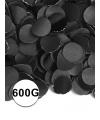Feest confetti 600 gram zwart